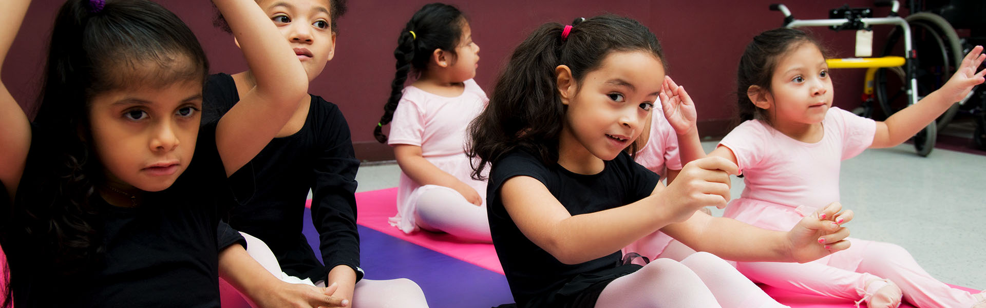 Elementary school girls in dance class - NJEDDA private special education school Clifton NJ