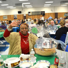 Basket winner at dinner fundraiser for private special education school in Clifton NJ